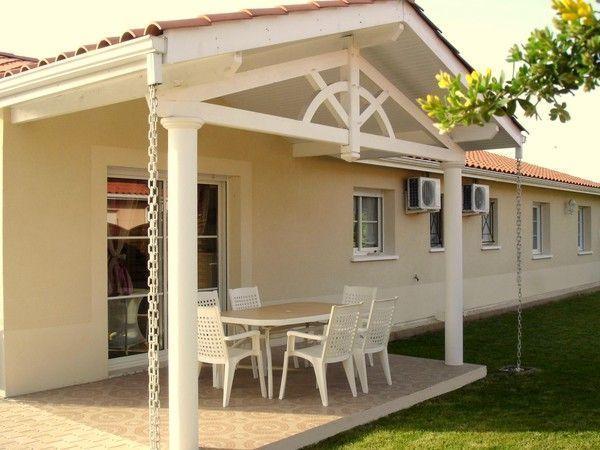 la terrasse avec le porche. Black Bedroom Furniture Sets. Home Design Ideas